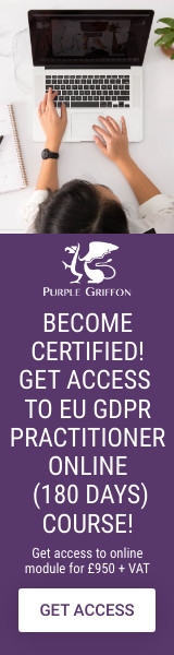 Certified EU GDPR Practitioner Online Training Course - Learn From Home With Purple Griffon