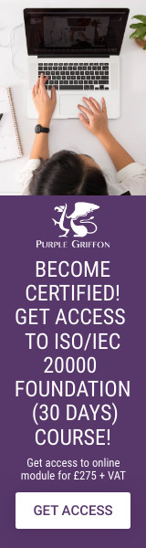 ISO/IEC 20000 Foundation Online Training Course - Learn From Home With Purple Griffon