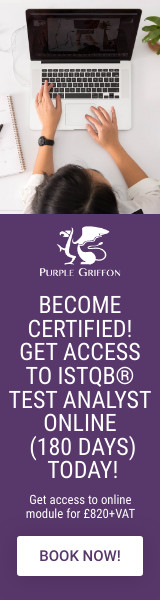 ISTQB Advanced Test Analyst Online (180 Days) - Learn At Home With Purple Griffon