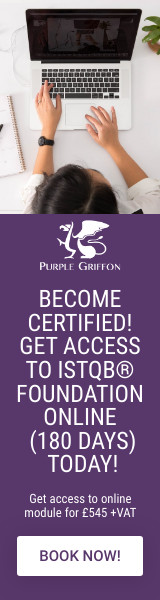 ISTQB Foundation Online (180 Days) Training Course - Learn From Home With Purple Griffon