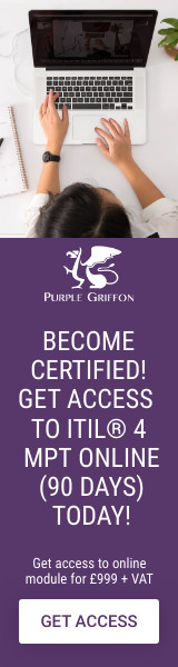 ITIL 4 Managing Professional Transition Module Online Training Course - Learn From Home With Purple Griffon